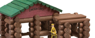 Classic Wood Lincoln Logs for Building Collections