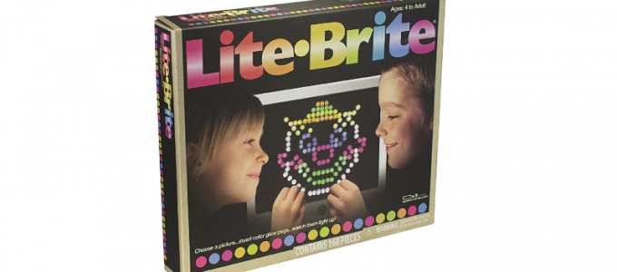 Lite Brite Lighted Peg Art